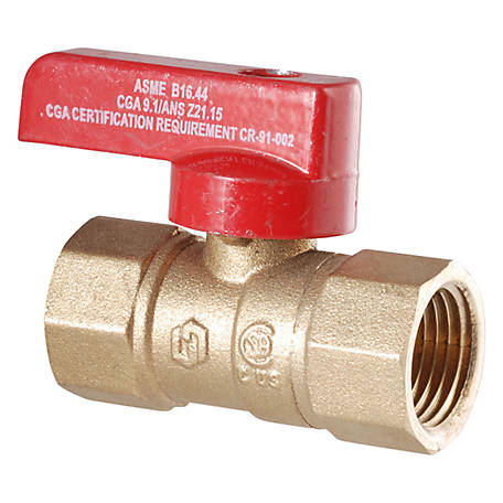 LDR 1/2 in. I.P.S. Brass Gas Ball Valve CSA Approved (3-88)