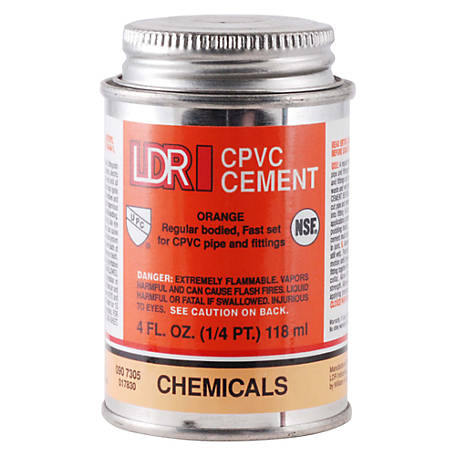 LDR CPVC Cement, Orange, 4 fl. oz.