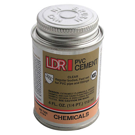 LDR PVC Cement, Clear, 4 fl. oz.
