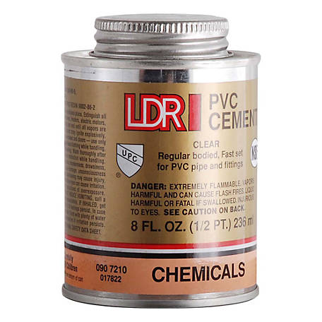 LDR PVC Cement, Clear, 8 fl. oz.