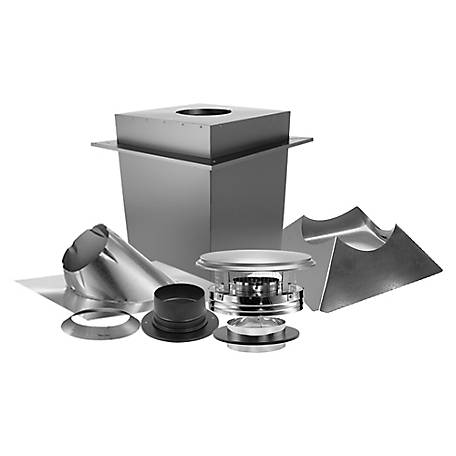 DuraVent DuraPlus 6 in. Triple Wall Pipe Through-the-Roof Stove Chimney Kit, 6DP-KBSC