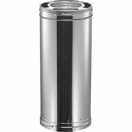 DuraVent DuraPlus 36 in. Triple-Wall Stainless Steel Chimney Pipe, 6DP-36SS