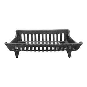 redstone cast iron shallow depth fireplace grate 18 in