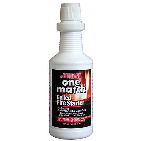 Rutland One Match Fire Starter Gel, 16 fl. oz., 49