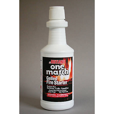 Rutland One Match Fire Starter Gel, 32 fl oz., 49Q