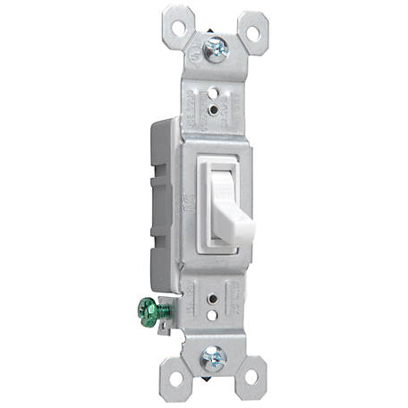 Pass & Seymour 15A 1-Pole Switch, White