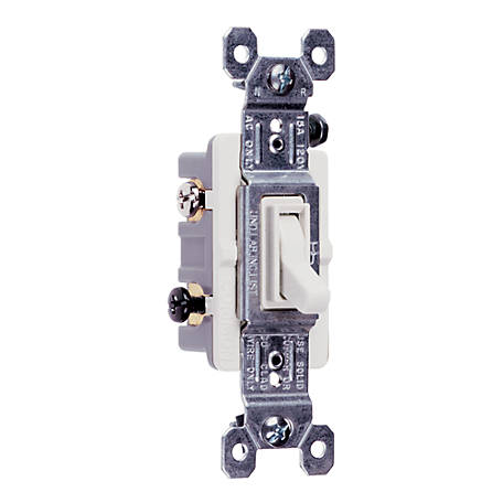 Pass & Seymour 15A 3-Way Switch, White