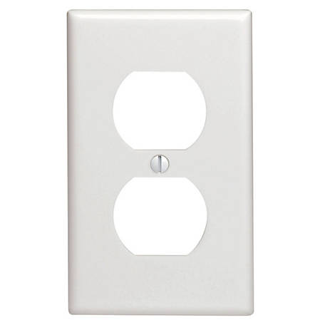 Pass & Seymour Duplex Outlet Wall Plate, White
