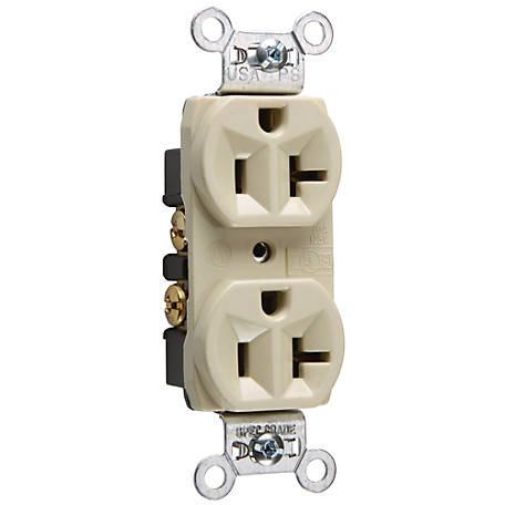 Pass & Seymour 20A Commercial Grade Outlet, Ivory