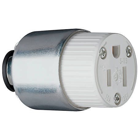 Pass & Seymour 15A Armor Connector, White