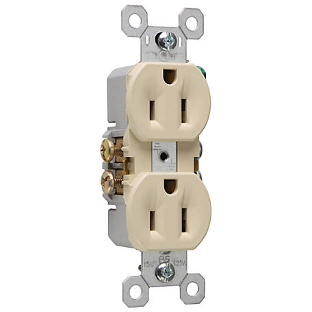 Pass & Seymour 15A Duplex Outlet, Ivory at Tractor Supply Co