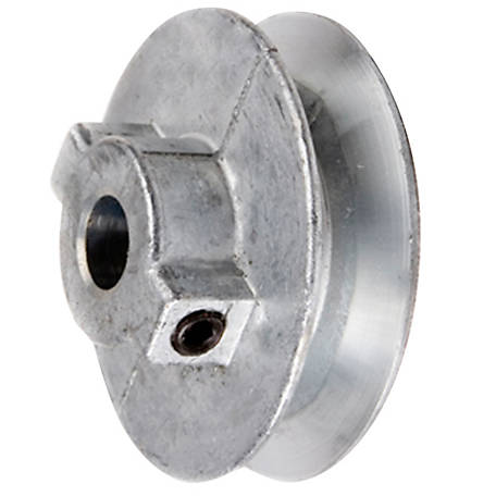 Chicago Die Casting Standard V-Type Belt Pulley, 6 in. OD x 1/2 in. Bore, No Keyway