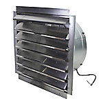 MaxxAir Heavy-Duty Exhaust Fan with Integrated Shutter, 24 in. Blade, IF24