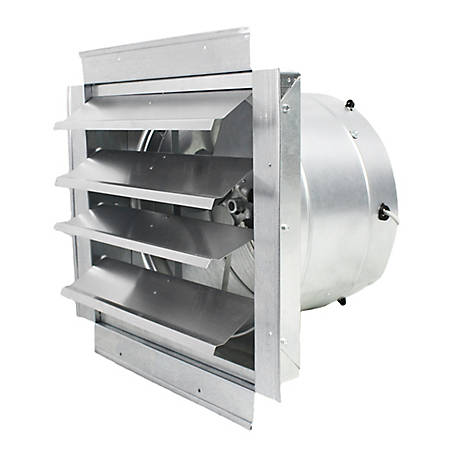 MaxxAir Heavy-Duty Exhaust Fan with Integrated Shutter, 14 in. Blade, IF14