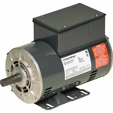 Marathon Electric Air Compressor Motor, 6 HP