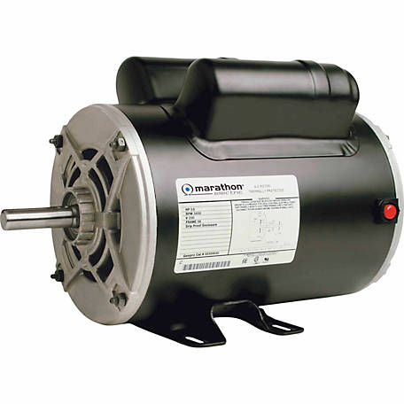 Marathon Electric Air Compressor Motor, 3-1/2 HP