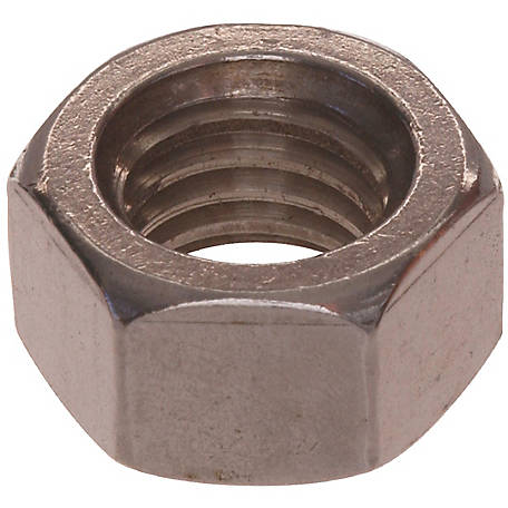 Hillman Stainless Steel Hex Nut, 3/8 in.-16 Coarse Thread