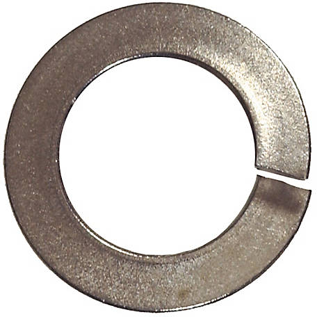 Hillman Stainless Steel Split Lock Washer, #8 Diameter