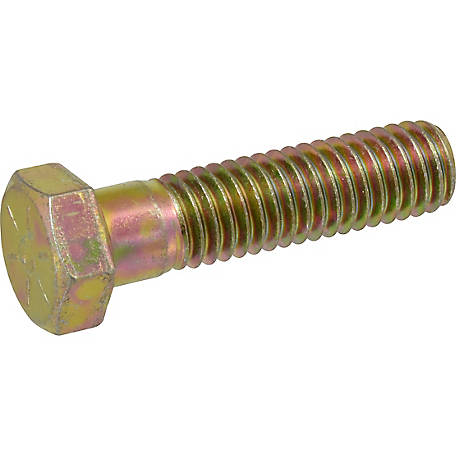Hillman Grade 8 Yellow Zinc Hex Cap Screw, 9/16 in. -12 Coarse Thread x 4 in. L