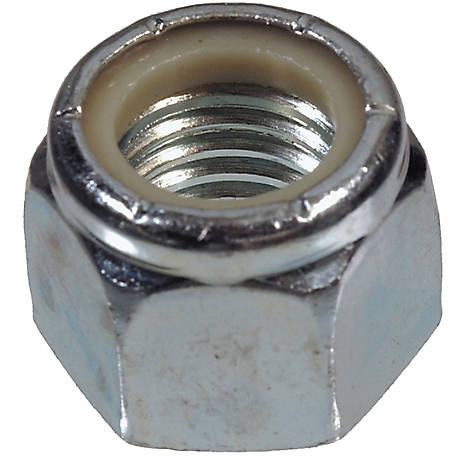 Hillman Zinc-plated Nylon Insert Lock Nut, 3/8 in.-24 Fine Thread