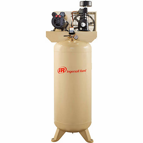 Ingersoll Rand 5 HP Single-Stage Twin Cylinder Pro Air Compressor, 60 gal.