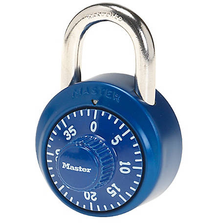 Master Lock 1-7/8 in. Combination Dial Padlock with Aluminum Cover, Assorted Colors, 1530DCM