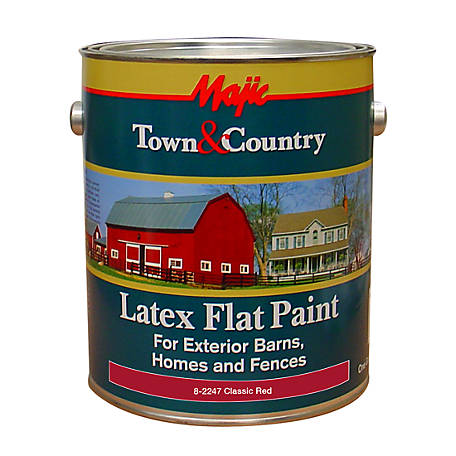 Majic Town Country Latex Flat Paint 1 Gal Clic Red