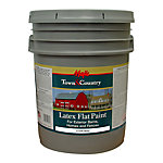 Majic Town & Country Latex Flat Paint, 5 gal., White