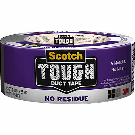 Scotch Tough Duct Tape No Residue, 1.88 in. x 25 yd.