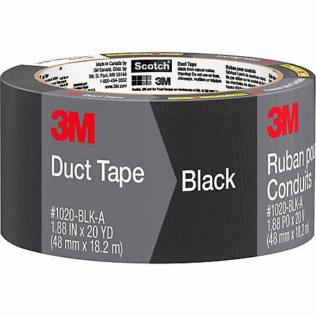 Scotch Black Duct Tape, 1.88 in. x 20 yd.