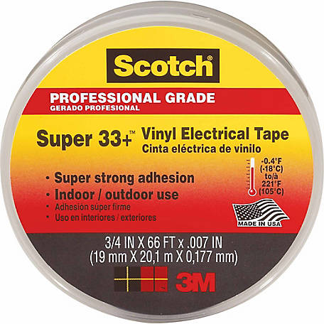 Scotch Super 33+ Vinyl Electrical Tape, 3/4 in .x 66 ft. x 0.007 in.