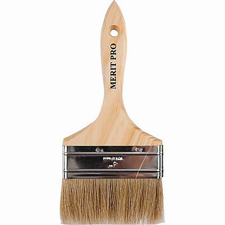 Merit Pro 00029 4 in. White Bristle Chip Brush