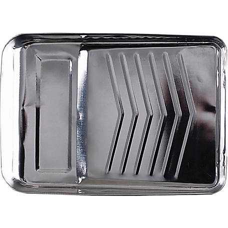 Merit Pro 00190 9 in. Bright Metal Paint Tray