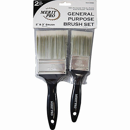 Merit Pro 00680 2-Piece Polyester Brush Kit