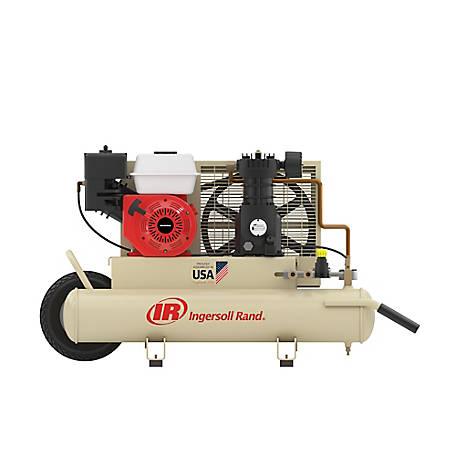 ingersoll rand 5 1 2 hp 8 gallon gas wheelbarrow air compressor atingersoll rand 5 1 2 hp 8 gallon gas wheelbarrow air compressor