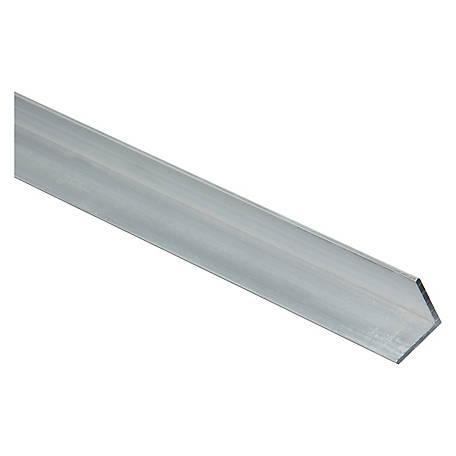 Solid Aluminum Angle,3/4 in. x 72 in. x 1/16 in.