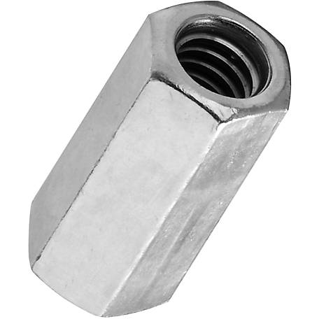 National Hardware 4003BC 1/4-20 Coupler, Zinc (Blue)