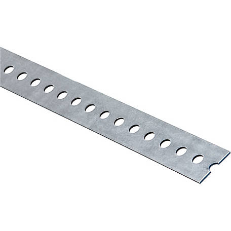 National Hardware 4025BC 1-3/8 in. x 36 in. Slotted Flat, Galvanized