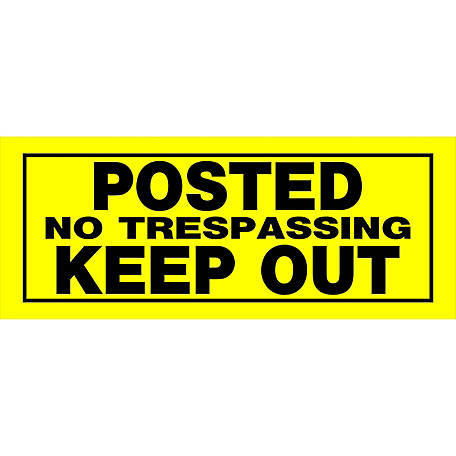 Hillman 'Posted No Trespassing Keep Out' Sign, 6 in. x 15 in.