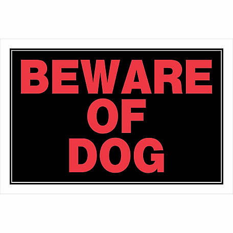 Hillman Beware Of Dog Sign, 8 in. x 12 in.