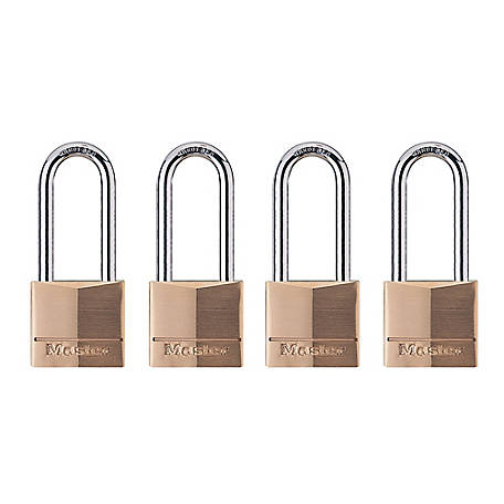 Master Lock Padlock, Pack of 4, 140QLHCCSEN