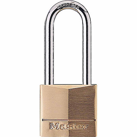 Master Lock 1-9/16 in. Covered Solid Body Padlock with 2 in. Shackle, 140DLH