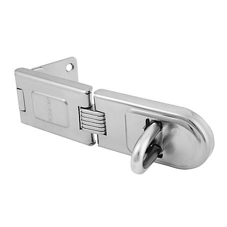 Master Lock Single Hinged Hasp, 720DPF