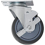 Waxman Titan 4 in. Thermoplastic Rubber Caster Swivel with Brake