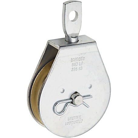 Single Swivel Pulley, 3 in.