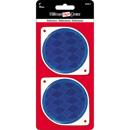 Hillman 3 in. Blue Reflector, Pack of 2