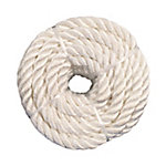 Koch Industries Nylon Twisted Rope, White, 1/2 in. x 100 ft. Coil