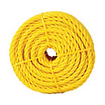 Koch Industries Polypropylene Twist Rope, Yellow, 1/4 in. x 50 ft. Coil