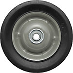 6 in. x 1.5 in. Solid Tire with Center Steel Hub and Diamond Tread, 1/2 in. Bore Size