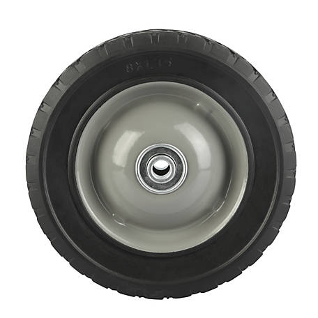 8 in. x 1.75 in. Solid Tire with Center Steel Hub and Diamond Tread, 1/2 in. Bore Size
